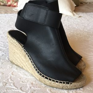 Vince Seymour Covered Leather Espadrille